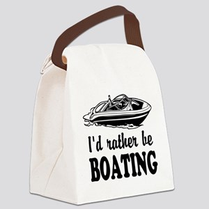 Id rather be boating Canvas Lunch Bag