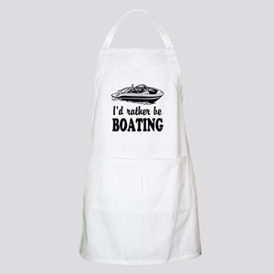 Id Rather Be Boating | Funny Bbq Apron For Men