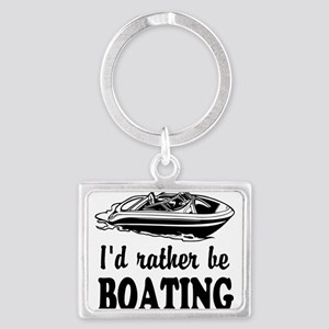 Id rather be boating Keychains