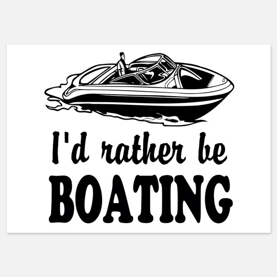 Id rather be boating Invitations