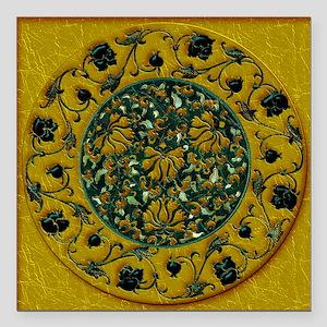"Harvest Moons Black Roses Square Car Magnet 3"" x 3"