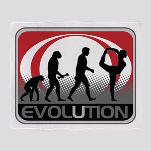 Evolution Yoga Throw Blanket