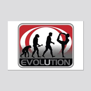 Evolution Yoga Mini Poster Print