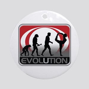 Evolution Yoga Ornament (Round)