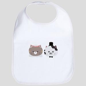 Cat Wedding Couple Cn557 Baby Bib