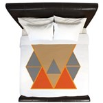Graphic Triangles King Duvet