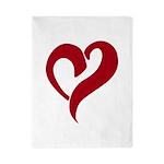 My Love Red Heart Twin Duvet