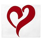 My love red heart King Duvet