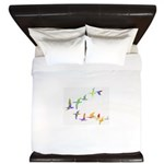 Colorful geese King Duvet
