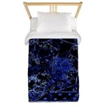 Blue Ice crystals Twin Duvet