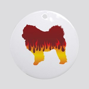 Chow Flames Ornament (Round)
