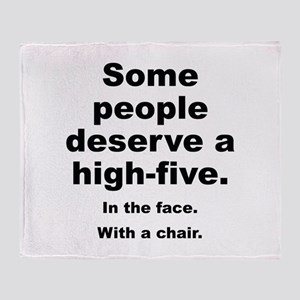 Some People Deserve A High-Five Stadium Blanket