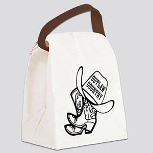 Outlaw Country Canvas Lunch Bag
