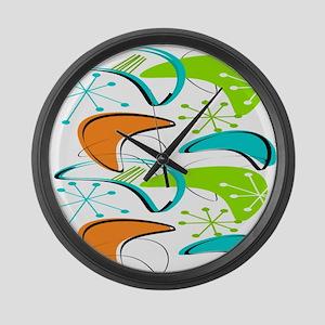 Atomic Era Inspired Large Wall Clock
