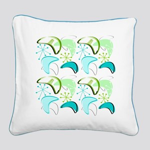 Atomic Era Inspired Square Canvas Pillow