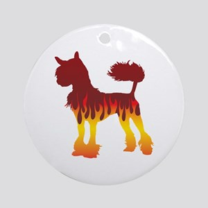 Crested Flames Ornament (Round)