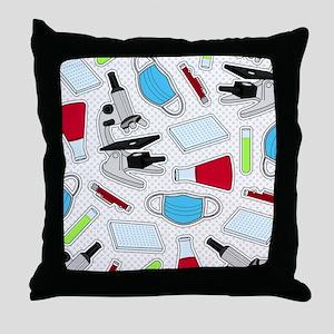 Cute Laboratory Pattern Throw Pillow