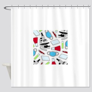 Cute Laboratory Pattern Shower Curtain