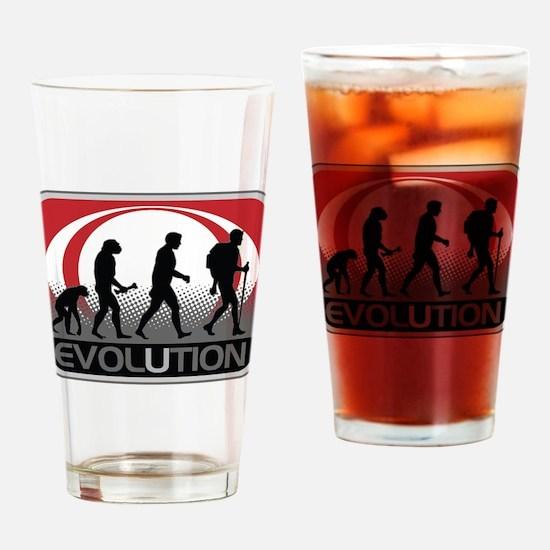 Evolution Hiker Drinking Glass