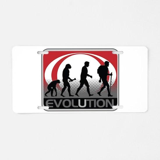 Evolution Hiker Aluminum License Plate