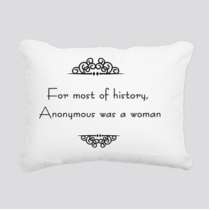 For most of history, Ano Rectangular Canvas Pillow