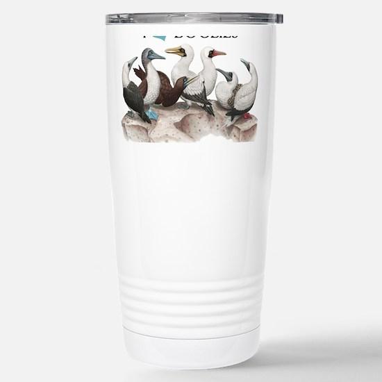 I Heart Boobies Stainless Steel Travel Mug