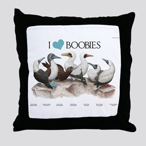 I Heart Boobies Throw Pillow