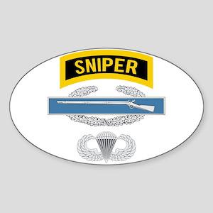 Sniper CIB Airborne Sticker (Oval)