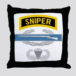 Sniper CIB Airborne Throw Pillow