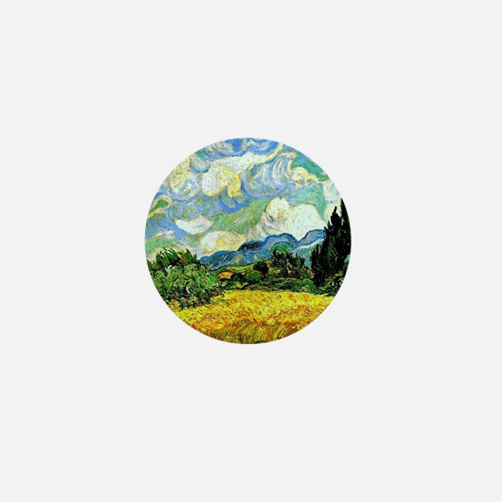 Van Gogh - Wheat Field with Cypresses Mini Button