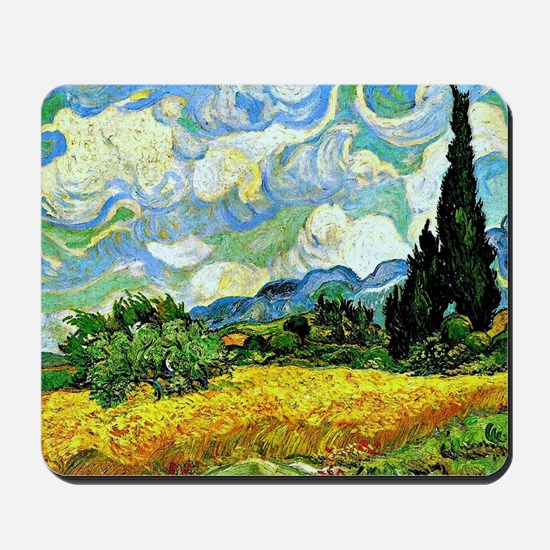 Van Gogh - Wheat Field with Cypresses Mousepad