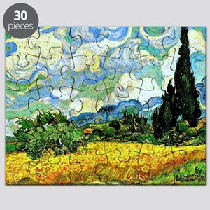 Van Gogh - Wheat Field with Cypresses Puzzle