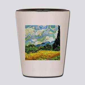 Van Gogh - Wheat Field with Cypresses Shot Glass