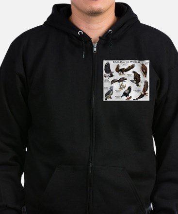 Eagles of the World Zip Hoodie (dark)