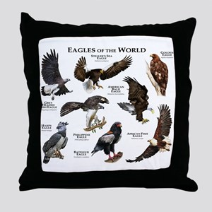 Eagles of the World Throw Pillow