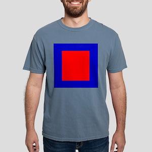 Red Blue Bold Square Color Block Designer T-Shirt