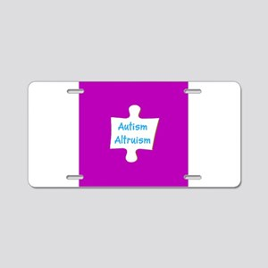 Support Autism Altruism 4Ge Aluminum License Plate