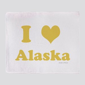 I love Alaska Throw Blanket
