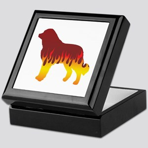 Caucasian Flames Keepsake Box