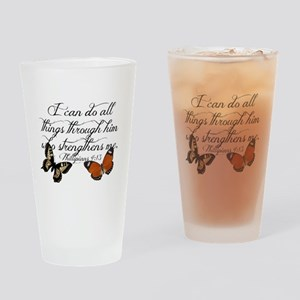 Phillipians 4:13 Drinking Glass