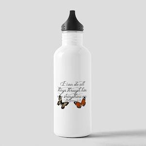 Phillipians 4:13 Water Bottle