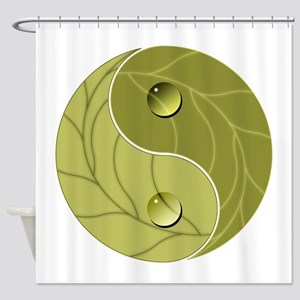 Yin Yang Nature Shower Curtain
