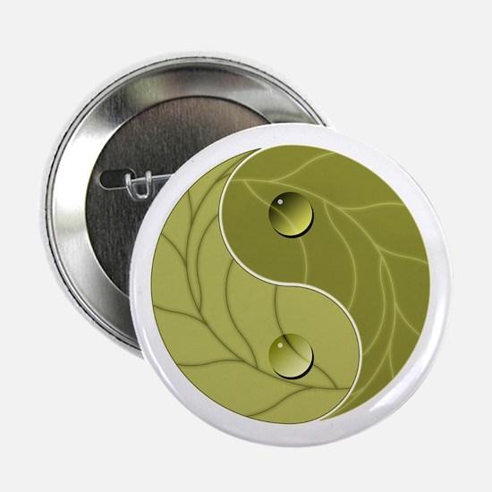 """Yin Yang Nature 2.25"""" Button"""