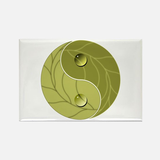Yin Yang Nature Rectangle Magnet