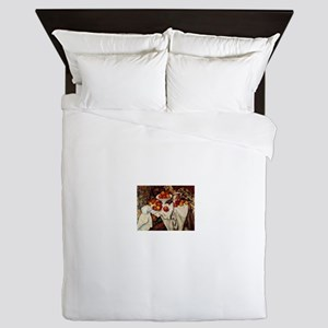 Apples and Oranges by Paul Cezanne Queen Duvet