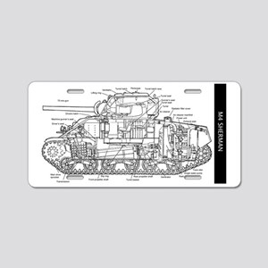 M4 SHERMAN CUTAWAY Aluminum License Plate