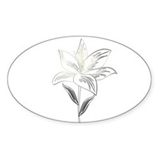 Garden Lily Drawing Sticker