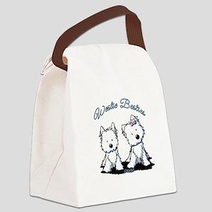 Westie Besties Canvas Lunch Bag
