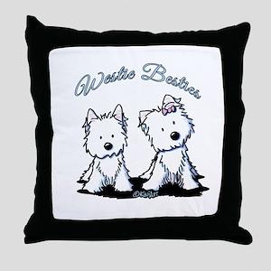 Westie Besties Throw Pillow