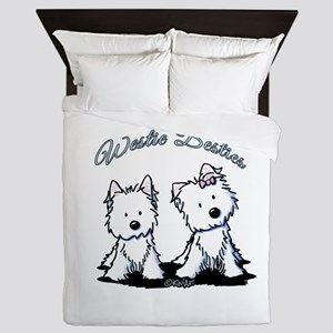 Westie Besties Queen Duvet